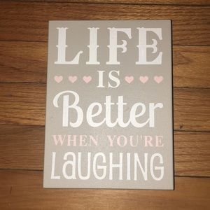 Life is better wooden sign